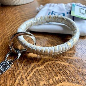 NWT O-Venture O-Ring Leather Key Ring Crocodile